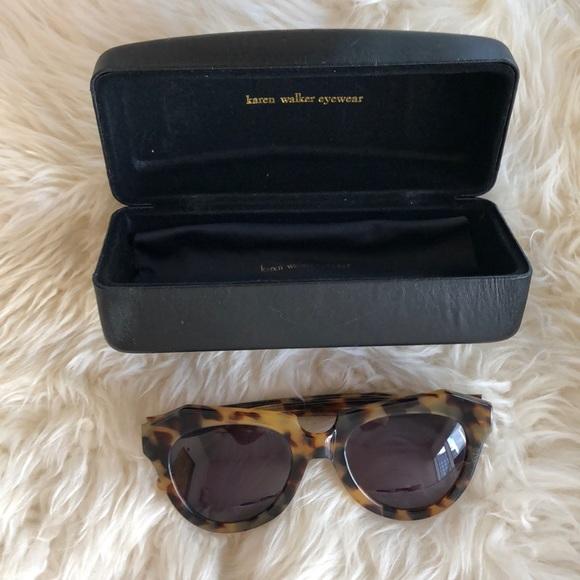 3246d1bc9f9 Karen Walker Accessories - KAREN WALKER Number One Sunglasses in Crazy Tort